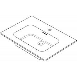 Tablette marbre combo/molto 140x50cm 1 lavabo blanc R140CENTRGC