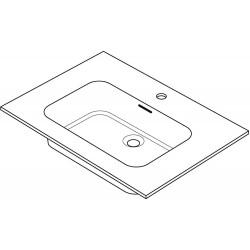 Tablette marbre combo/molto 70x50cm blanc R70GC