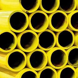 Tube en acier EN10255M pour souder de couleur  jaune avec longueur 6m par mètre et diamètre 1/2  Ral 1018 134781
