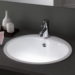 Alape, vasque a encastrer acier avec trou pour robinet ew3 blanc.  2005000000