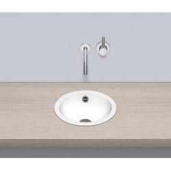 Alape, vasque a encastrer acier sans trou pour robinet 325 blanc.  2000200000