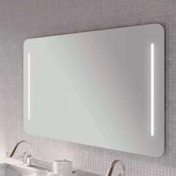 Dexxo Meuble miroir Zen double éclairage LED de 80 cm dimensions 800 x 800