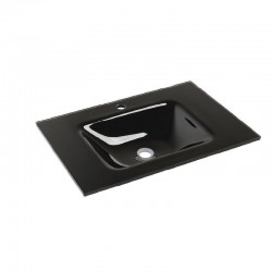 Dexxo Meuble vasque Crystal de 100 cm noir dimensions 1000X460