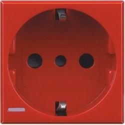 Bticino axolute prise 2p+t schuko type 30 rouge H4140R