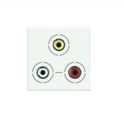 Bticino axolute prise audio 3xrca white 2 mod HD4283