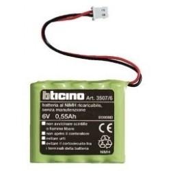 Bticino batterie 6v 0,5ah pour réf. 4070, n/nt4070 et centrale pour la thermorégulation 35076