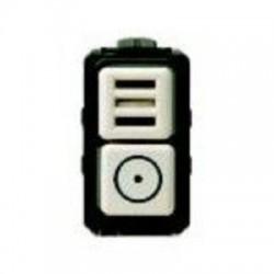 Bticino Bouton-poussoir Magic - avec ronfleur - 24 V - 1 module 5059