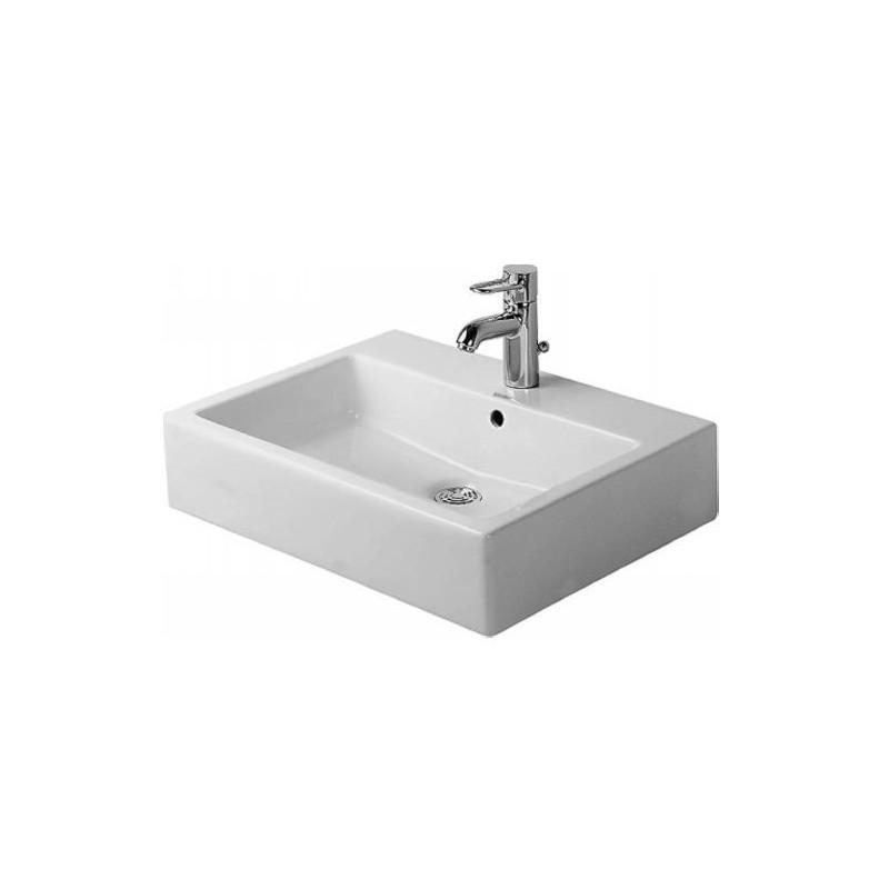 Duravit Vero lavabo 60X47cm avec 1 trou de robinet, modèle rectangulaire  blanc 0454600000