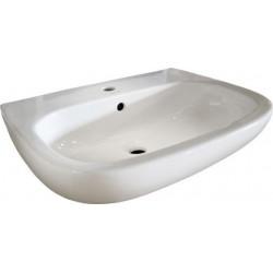 Duravit, lavabo d-code 55cm blanc,  en céramique sanitaire, avec trop-plein. 23105500002
