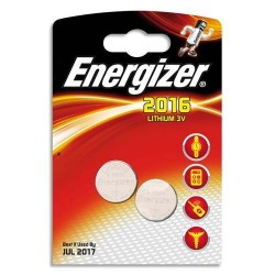 Energizer 2 x piles 3v lithium cr2016