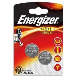 Energizer 2 x piles 3v lithium cr2430 CR24302