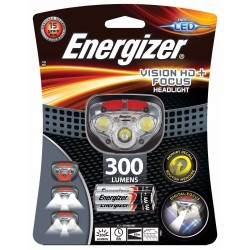 Energizer Torche frontale 300 lumens avec 3 piles AAA HEADVISION