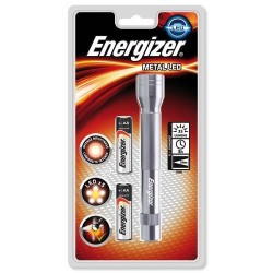 Energizer Torche métal LED avec 2 piles AA METAL2AA