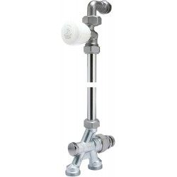 Ensemble Bitube sol robinet droit avec courbe 1/2x18 R438/1 R438IX044