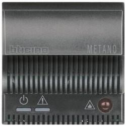 Bticino détecteur de gaz axolute - méthane - 12v - alarme optique+acoustique 85db - gris HS4511/12