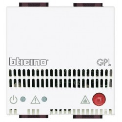 Bticino détecteur de gaz light - lpg - 12 v - avec alarme optique + acoustique 85 db N451212