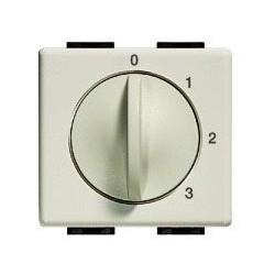 Bticino Interrupteur pour ventilateur Magic - 250V - 3 A - 4 positions - 2 modules A5086