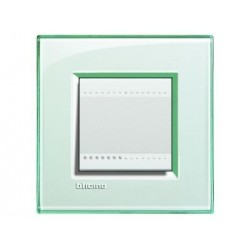 Bticino livinglight - plaque rectangulaire 2 modules aquamarine LNA4802KA