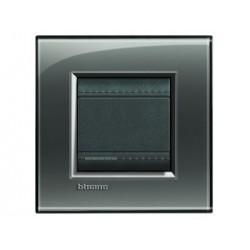 Bticino livinglight - plaque rectangulaire 2 modules london fog LNA4802KF