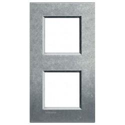 Bticino livinglight - plaque rectangulaire 2x2 modules 71mm native LNA4802M2NA