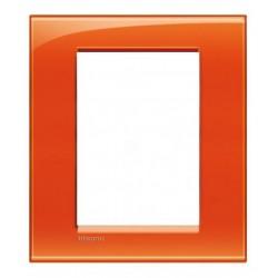 Bticino livinglight - plaque rectangulaire 3+3 modules orange LNA48260D