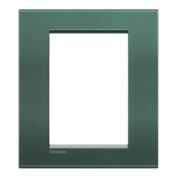 Bticino livinglight - plaque rectangulaire 3+3 modules park LNA4826PK