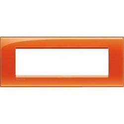 Bticino livinglight - plaque rectangulaire 7 modules orange LNA48070D