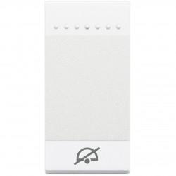 Bticino livinglight - touche bascule pas déranger 1 module blanc N4915DD