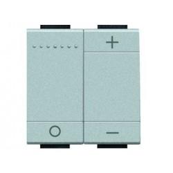 Bticino livinglight - variateur poussoir  300/600w resistif-inductif 2 modules tech NT4408N
