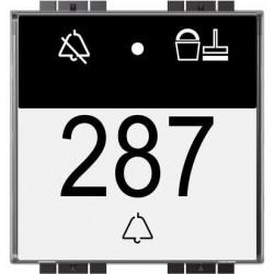 Bticino mh - indication 'dnd-mur' et lecteur de badge livingligh LN4651