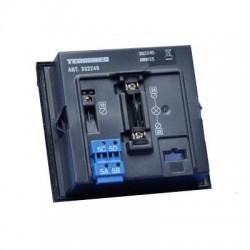 Bticino module avec 4 boutons d appel sfera - connecteurs extractibles et eclairage 332240