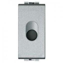 Bticino obturateur light tech - arrondie - avec sortie diamètre 9 mm - 1 module NT4953