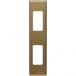 Bticino Plaque de finition Magic - enclipsable - pour réf. 5367R - 2 modules - bronze 5367/2B