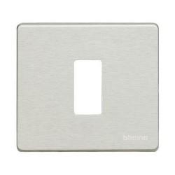 Bticino Plaque de recouvrement Magic - 1 module - pour réf. 500S/1/ 500S/1V - Oxydal 500/1/X
