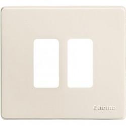 Bticino Plaque de recouvrement Magic - 2 modules - pour réf. 500S/2/ 500S/2V - Ivoire 500/2/R