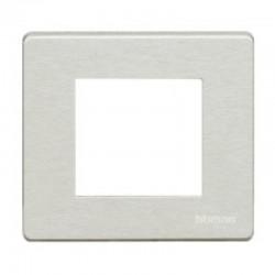 Bticino Plaque de recouvrement Magic - 2 modules - pour support réf. 500S/2AV - Oxydal 500/2A/X