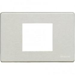 Bticino Plaque de recouvrement Magic - 2 modules - pour support réf. 503S/2A - Oxydal 503/23A/X