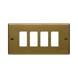Bticino Plaque de recouvrement Magic - 4 modules - pour support réf. 504S - Bronze 504/4/BR