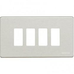 Bticino Plaque de recouvrement Magic - 4 modules - pour support réf. 504S - Oxydal 504/4/X