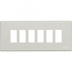 Bticino Plaque de recouvrement Magic - 6 modules - pour support réf. 506S - Oxydal 506L/6/X