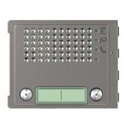 Bticino plaque frontale 351100 2 boutons horizont. robur - sfera new 351145