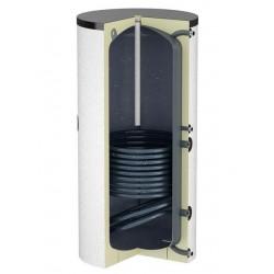 Flamco Boiler échangeur inox 500L vertical blanc classe ErP B type Duo HLS-E 500 hauteur 2020 mm diamètre 795 mm 19909