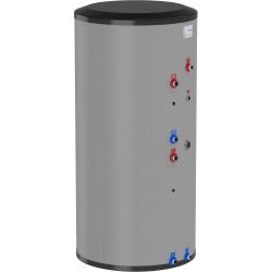 Flamco boiler solaire inox type Duo HLS-E Solar 300L spirale double gris classe ErP B hauteur 1805 mm diamètre 675 mm 19918