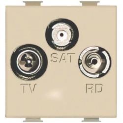 Bticino Prise Radio/TV/SAT Magic - coaxiale - 2 modules A5210M2D