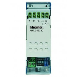 Bticino relais pour gâche - pour installation audio système 2 fils - 2 modules din 346230