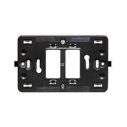 Bticino Support Magic - pour 2 modules (espace 3 modules) - à griffes 500S23