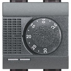 Bticino thermostat living - 230v - 2 a - électronique - 1 co - 2 modules L4441