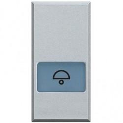 Bticino touche axolute - symbole sonnerie - gris clair - 1 module HC4921LD