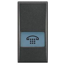 Bticino touche axolute - symbole téléphone - gris foncé - 1 module HS4921LH
