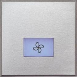Bticino touche axolute - symbole ventilateur - gris clair - 2 modules HC4921/2LE